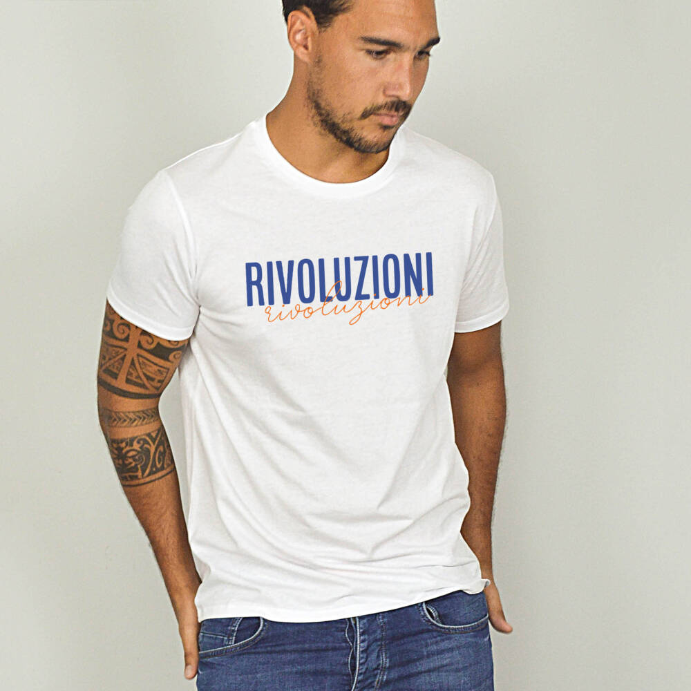 rivoluzioni t shirt blanc homme v b les tricots corses. Black Bedroom Furniture Sets. Home Design Ideas